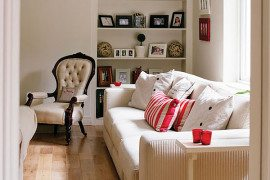 Country Bungalow Ireland - white couch living room