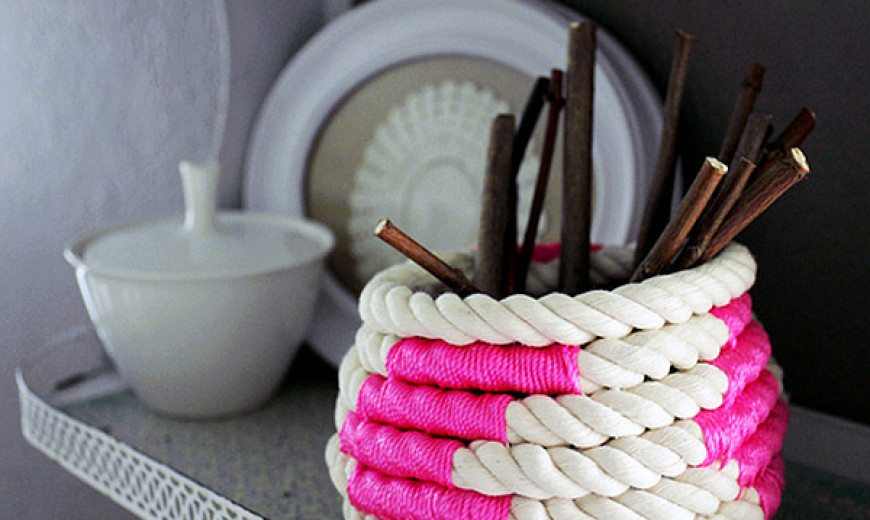 DIY Coiled Rope Basket 1