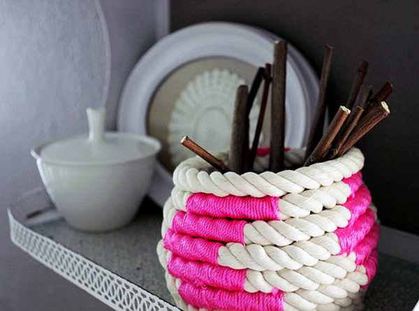 DIY Coiled Rope Basket 1 DIY Chic: How to Make a Coiled Rope Basket