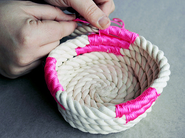 DIY Coiled Rope Basket 9