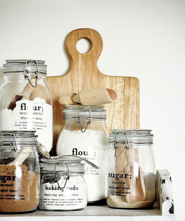 diy kitchen jars decoist