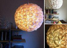 DIY Paper Orb Chandelier Made of Cupcake Liners