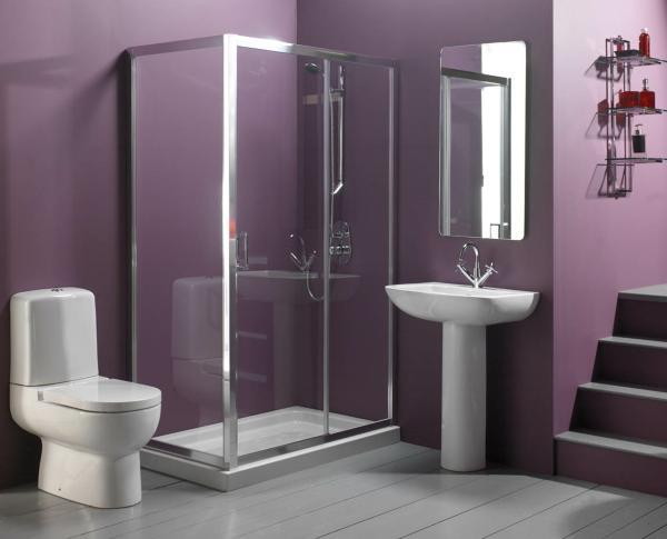 Eggplant Bathroom
