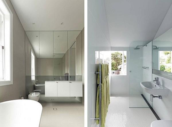 Elliott ripper house 14 white modern bathroom design for Bachelor bathroom ideas