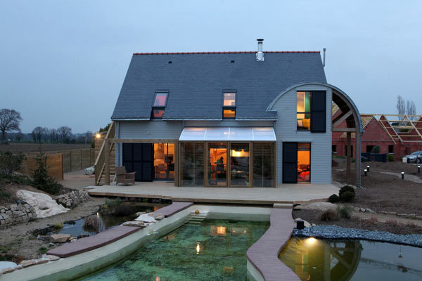 French Eco Friendly House 2 Eco Friendly House by Patrice Bideau in France