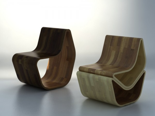 GVAL Chair with wood flooring design