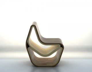 GVAL Wooden Chair draws inspiration from nature with stylish curves