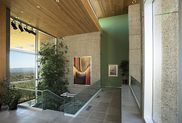 Glass staircases interior with lush plants – Sonoran Desert 15