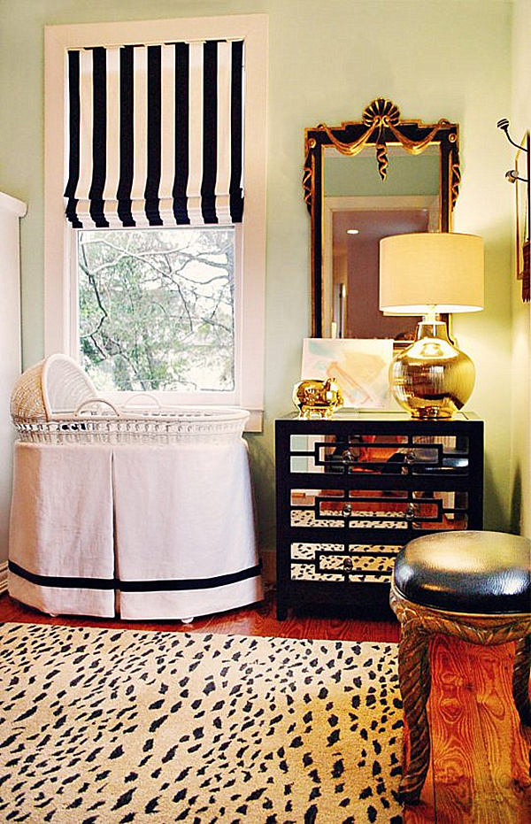 25 modern nursery design ideas for Black and white baby room decor