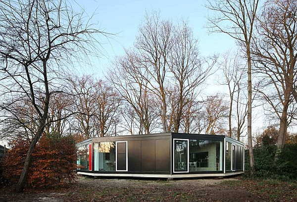House BM by Architecten De Vylder Vinck Taillieu 1 House BM in Ghent Merges Well with the Woods