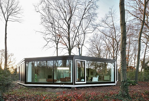 House BM by Architecten De Vylder Vinck Taillieu 2 House BM in Ghent Merges Well with the Woods