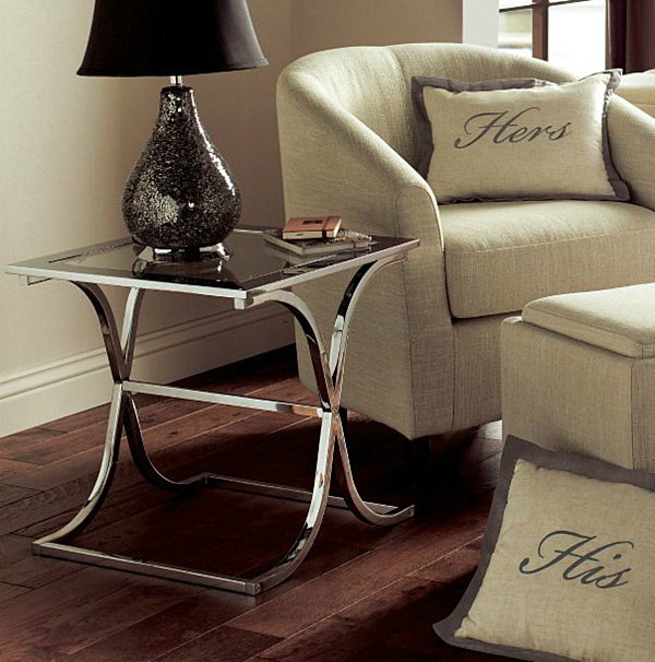 glass end tables for living room. Chrome Side Tables Decorating With Furniture