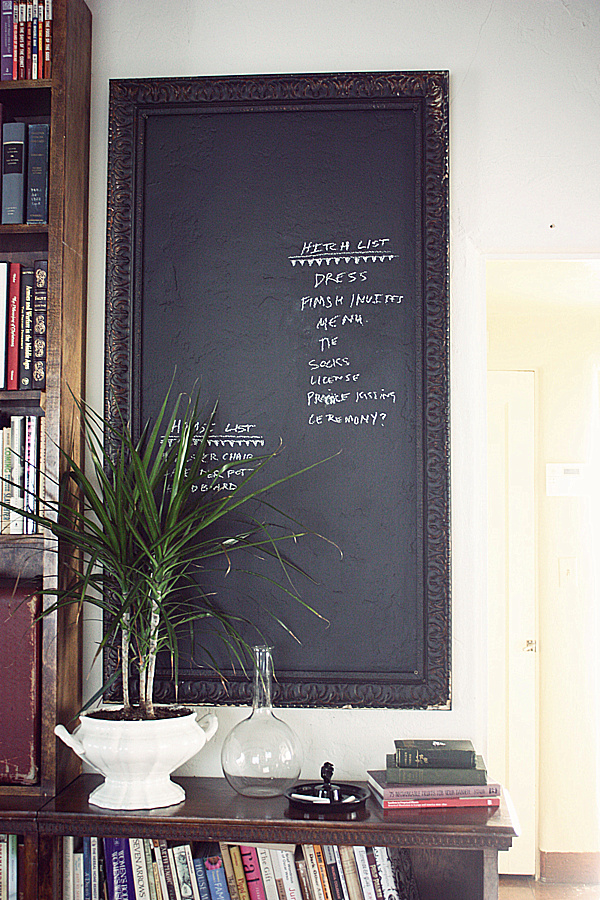 Chalkboard Paint in the Living Room