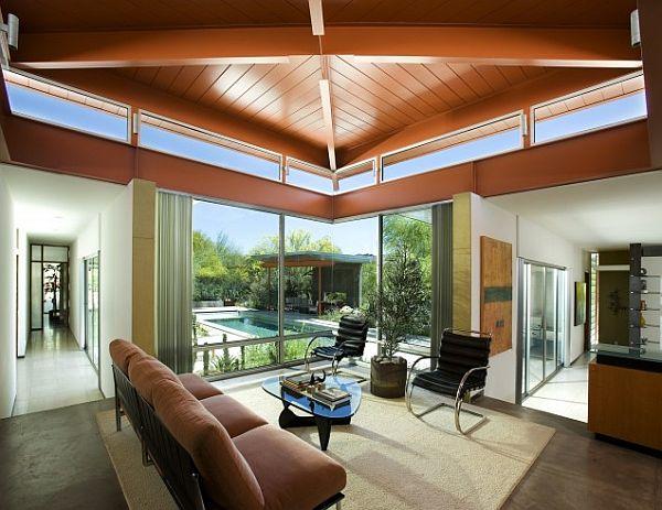 Living Room overlooking the pool and backyard – Sonoran Desert 1