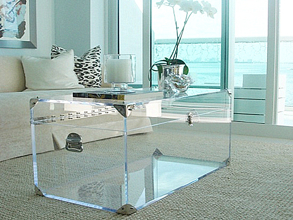 20 chic acrylic coffee tables for Clear lucite acrylic coffee table