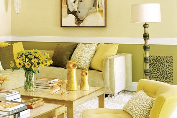 Luxurious Beverly Hills Home yellow themed living room Magnificent Home in Beverly Hills Charms with Its Use of Colors