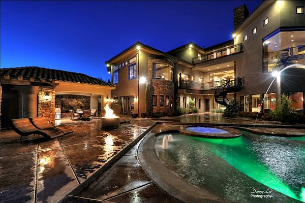 Luxury tuscan style mansion in washington is an for Pool design utah