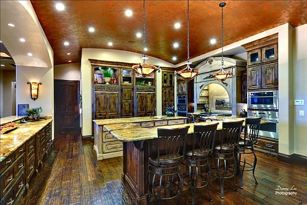 Luxury tuscan style mansion in washington is an for Luxury kitchen designs 2012