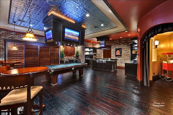 Man Cave Playroom : Luxury tuscan style mansion in washington is an