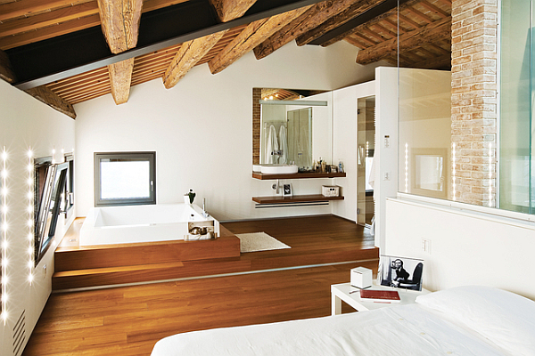 Luxury Renovated Farmhouse - contemporary bedroom suite