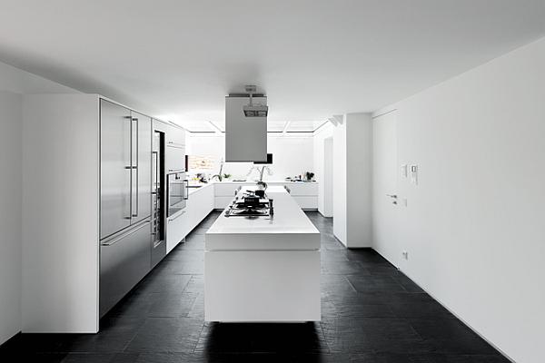 Luxury Renovated Farmhouse - minimalist white kitchen