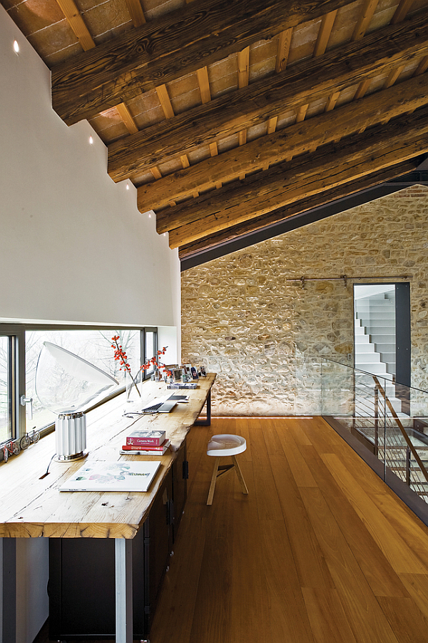 Luxury Renovated Farmhouse – rustic home office is modern