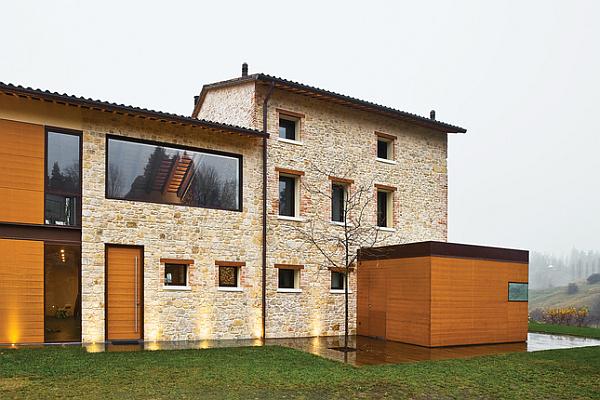 Luxury Renovated Farmhouse - stone exterior walls