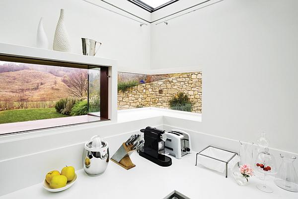 Luxury Renovated Farmhouse - white kitchen minimalist details