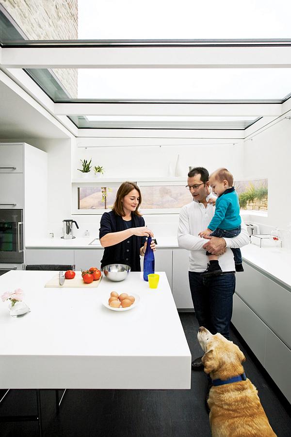Luxury Renovated Farmhouse - white minimalist kitchen design