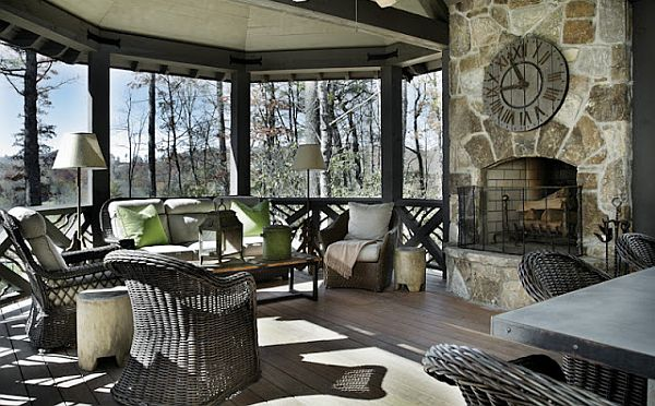 Refined rustic living country chic mountain retreat for Luxury rustic homes