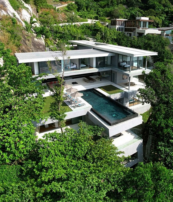 Luxury Villa Amanzi Phuket Thailand 1 Aerial view Villa Amanzi in Phuket Treats With Luxury, Awesome Scenery & Sea Views