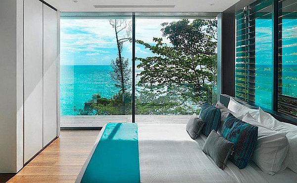 Luxury Villa Amanzi, Phuket, Thailand 8 – gorgeous bedroom with amazing sea views