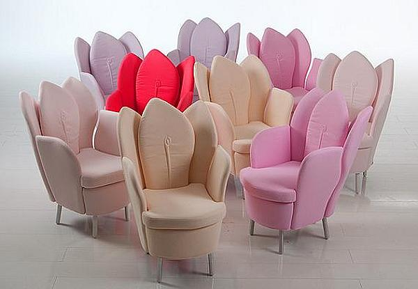 morning dew chairs sofas look like flower petals