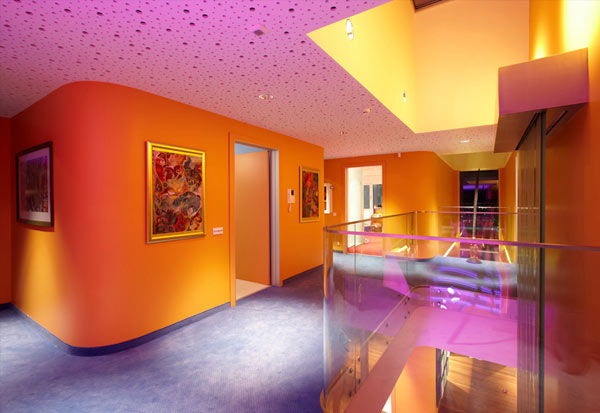 Orange House in Turkey - colorful interior