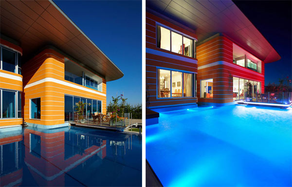 Orange House in Turkey – outdoor pool