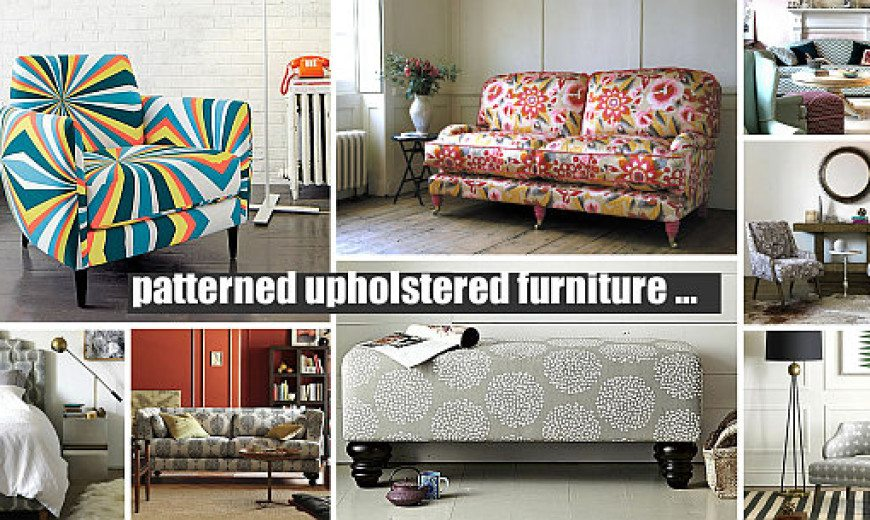 Decorating With Patterned Upholstered Furniture Delectable Patterned Settee