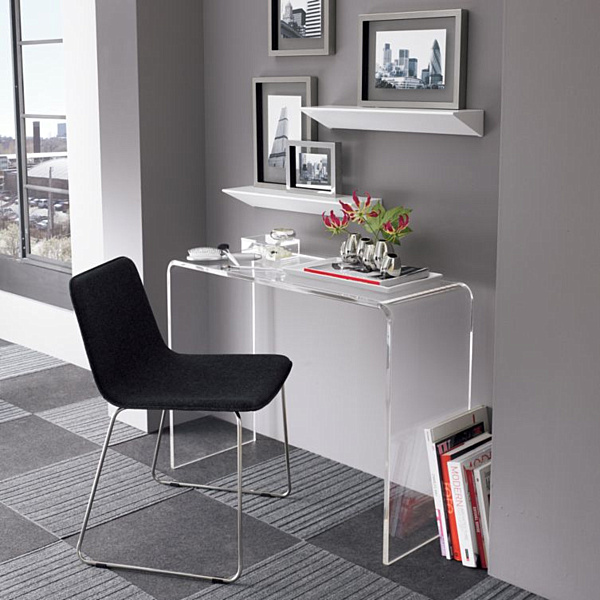 Superieur Acrylic Home Office Desks For A Clearly Fabulous Work Space
