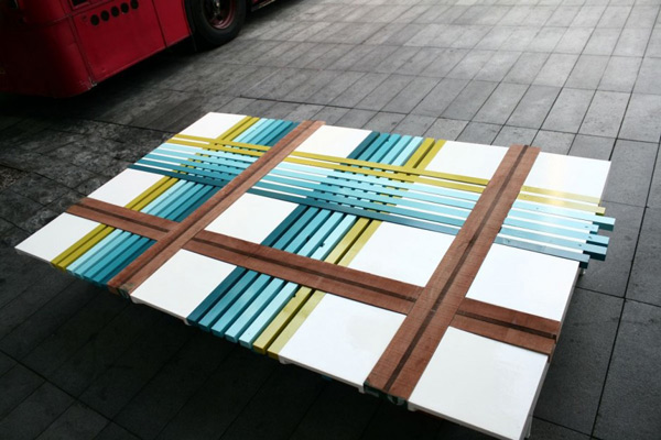 PlaidBench Collection by Raw Edges Design2 Colorful Project Combining Colors, Materials and Shapes