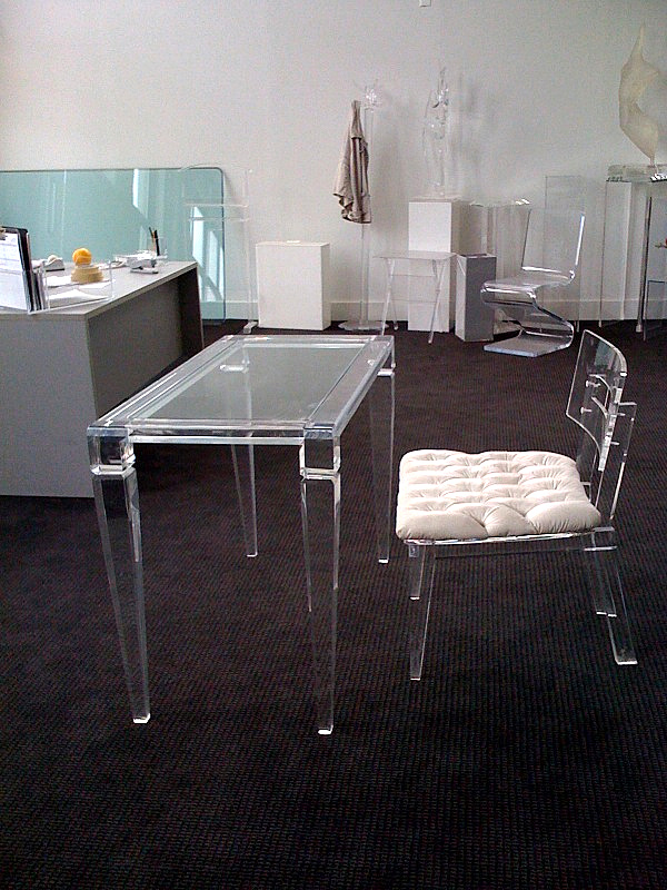 lucite desks acrylic office chairs