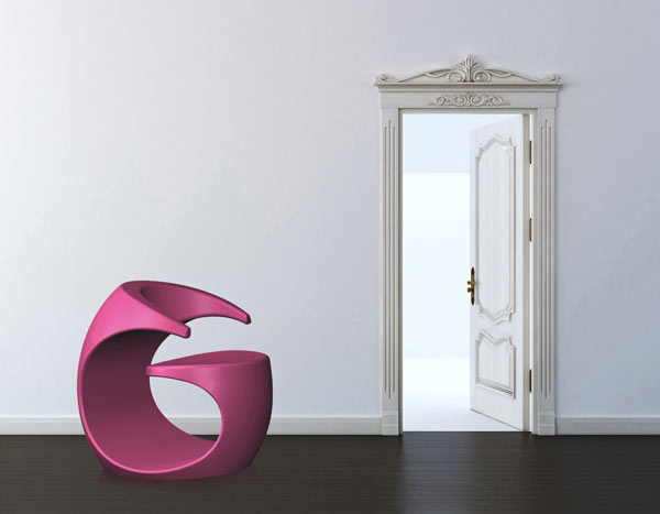 Purple Spiraling Missix Armchair