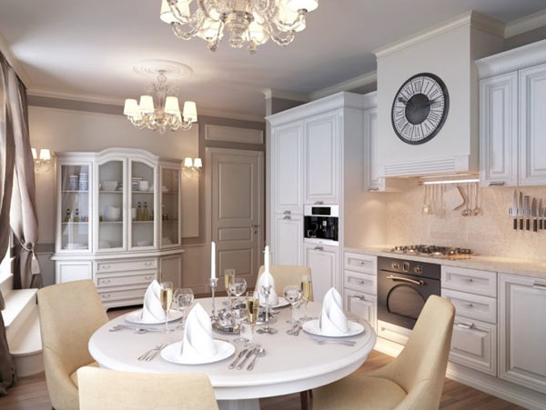 Russian Apartment Design dining room Classy St. Petersburg Apartment by Anton Valiev