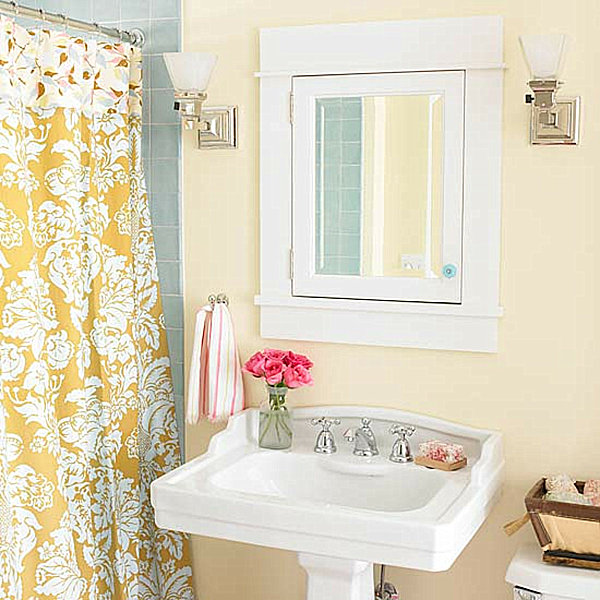 Shower Curtain and Flowers