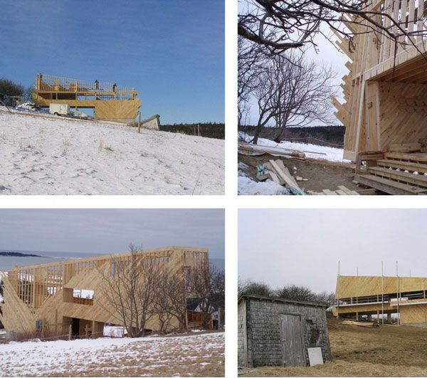 Sliding House in Canada – construction 11