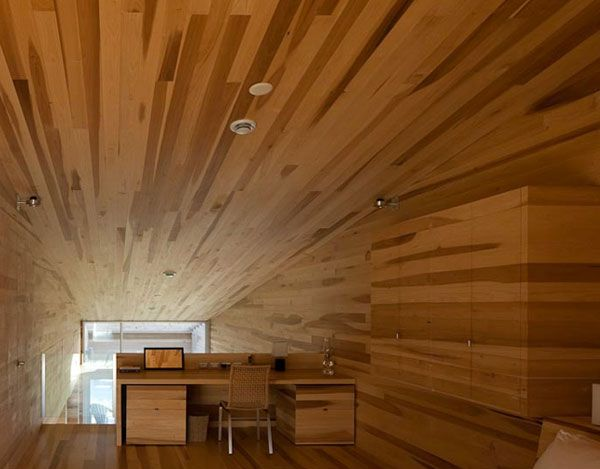 Sliding House in Canada wood office desk 9