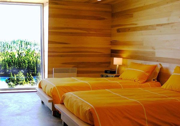 Sliding House in Canada wooden bedroom 5