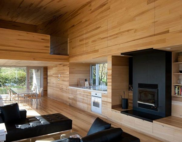 Sliding House in Canada wooden interior 3