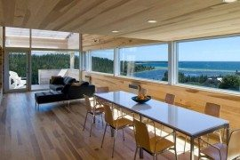 Sliding House in Canada wooden living area 2
