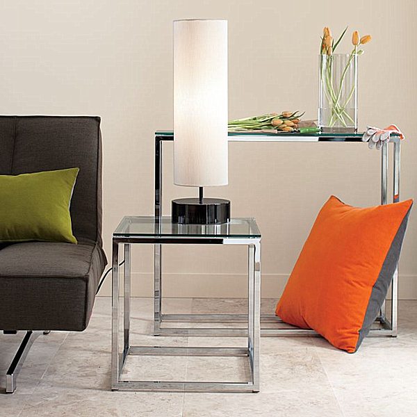 Decorating with chrome furniture - Antique side tables for living room ...
