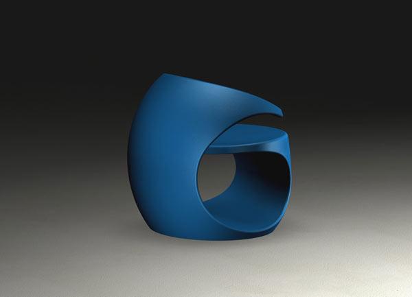Spiraling Missix Armchair – blue