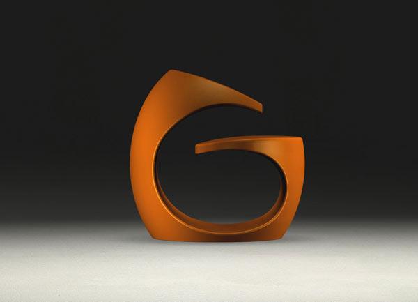 Spiraling Missix Armchair – orange